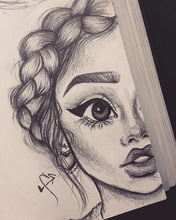 Interesting Cute Girl Pencil Drawing for Beginners Cute Girl Pencil Drawing Images Pictures