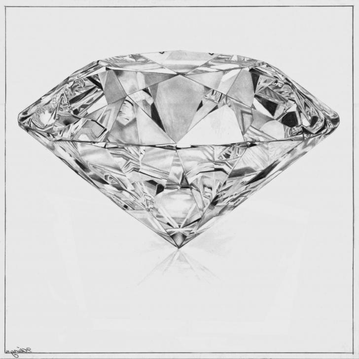 Interesting Diamond Pencil Drawing Techniques Diamond Pencil Drawings Drawing | Rizapbeauty Pics