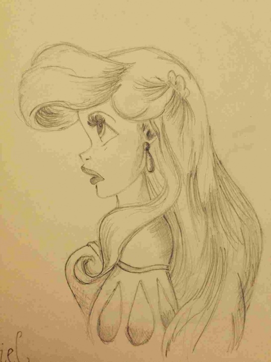 Interesting Disney Princess Pencil Sketch Tutorial Disney Princess Ariel Pencil Drawings Pics