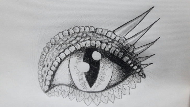 Interesting Dragon Eye Pencil Drawing Easy Dragon Eye. Pencil Sketch By Tryphina (Deviantart) | Tryphina Pictures