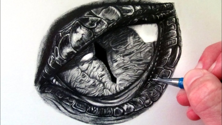 Interesting Dragon Eye Pencil Drawing Lessons How To Draw A Dragon Eye Photos