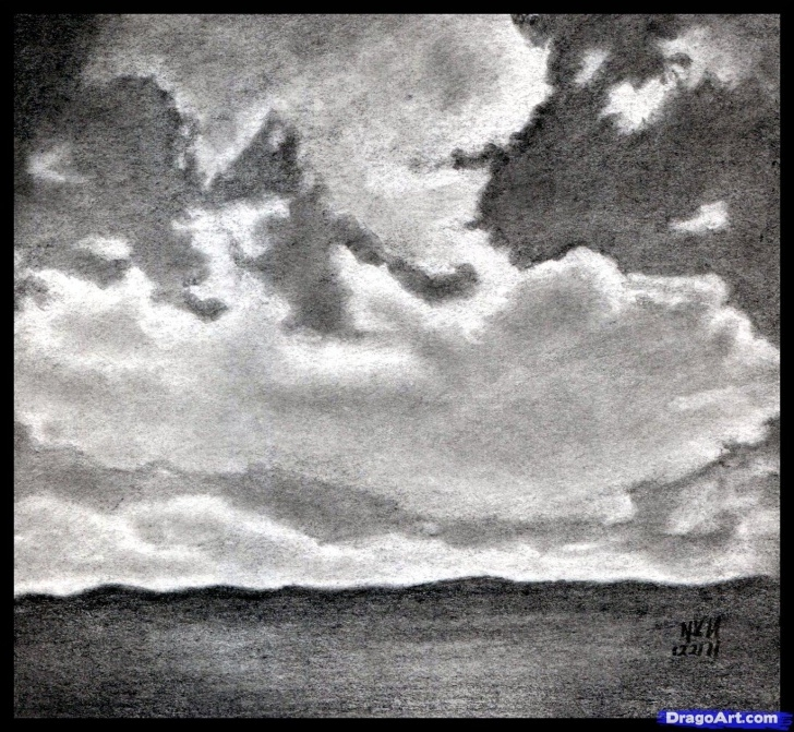 Interesting Drawing Clouds With Pencil Courses How To Draw Realistic Clouds, Draw Clouds, Step By Step, Other Photos