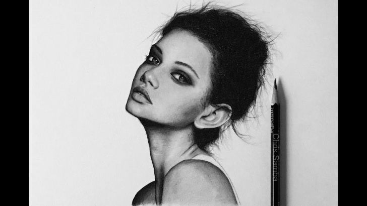 Drawing Using Charcoal Pencil