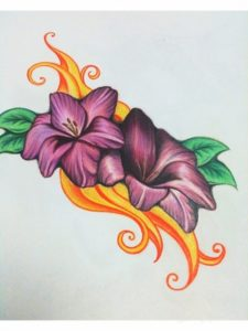 Interesting Easy Colored Pencil Drawings Of Flowers Simple Easy Colored Pencil Drawings Of Flowers - All The Gallery You Need Pics