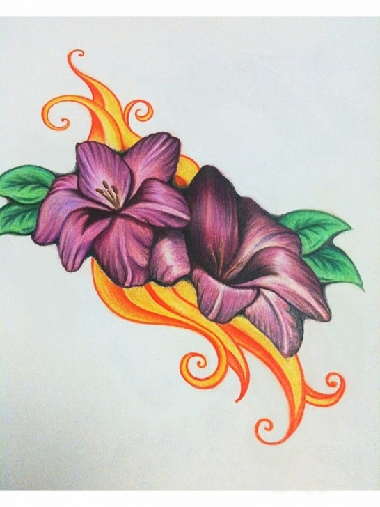 Easy Colored Pencil Drawings Of Flowers
