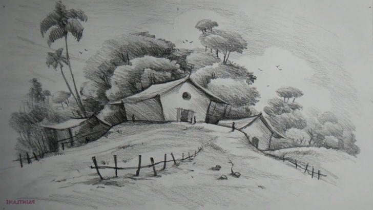 Interesting Easy Pencil Shading Drawings Scenery Easy Easy Pencil Shading Drawings Of Nature - Drawingsketch Images