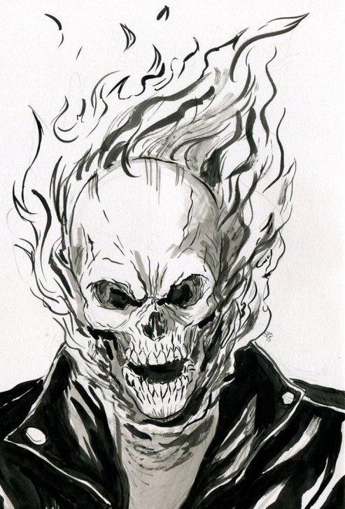 Interesting Ghost Rider Drawings In Pencil Lessons A Great New Year To Everyone!!! Here's A Pencils Piece With Starlord Photo