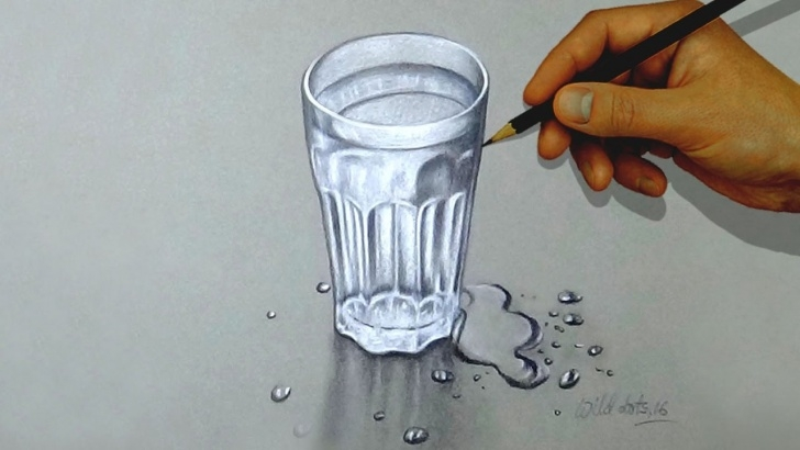 Interesting Glass Pencil Drawing Techniques for Beginners Glass Of Water - How To Draw A Glass Of Water With Colored Pencils | Pictures