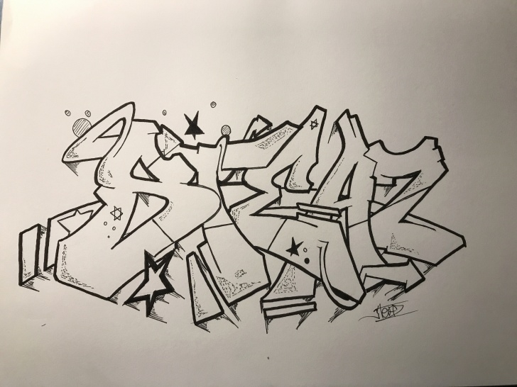 Graffiti Pencil Drawing