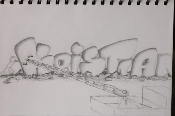 Interesting Graffiti Pencil Drawing Techniques Pencil Graffiti Sketch | Sketchbook Drawing #4 Picture