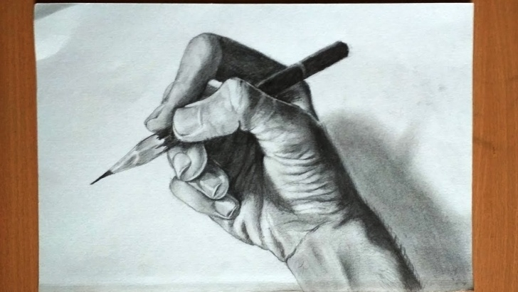 Hand Holding Pencil Drawing
