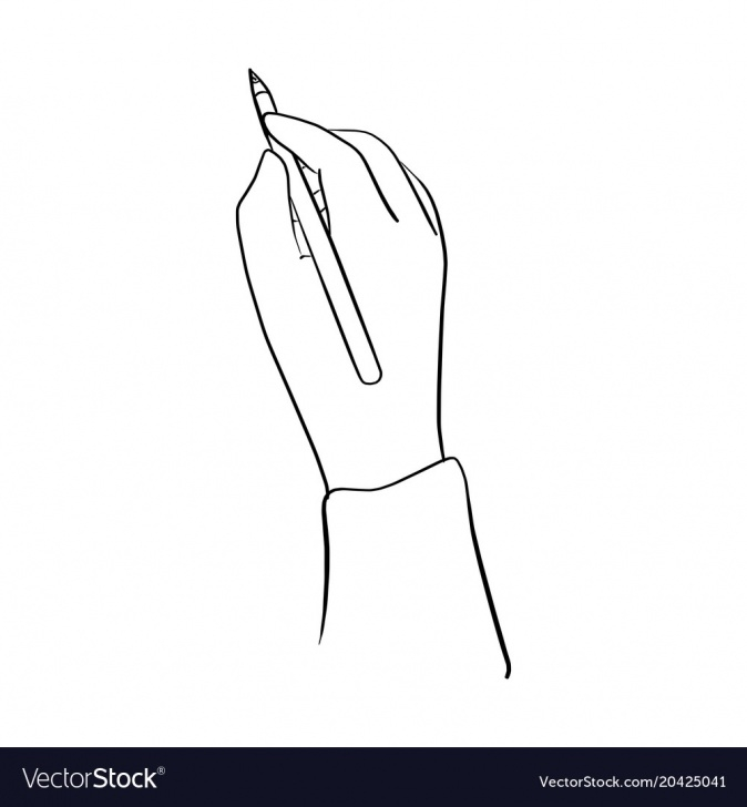Interesting Hand Holding Pencil Drawing Simple Hand Holding Pencil Sketch Hand Images