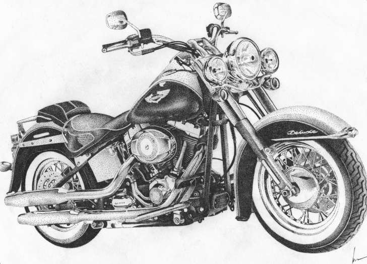 Interesting Harley Davidson Pencil Drawings Easy Harley Davidson Drawings At Paintingvalley | Explore Collection Images