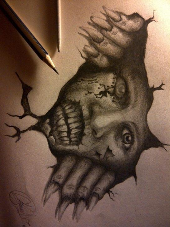Horror Pencil Drawings