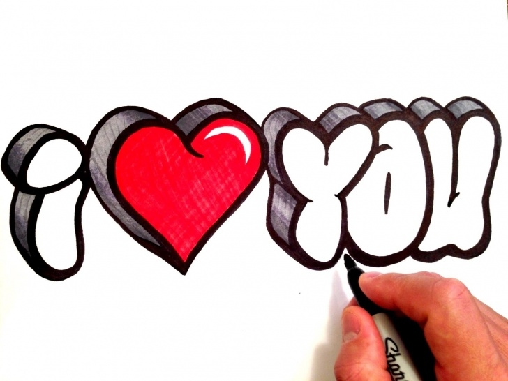 Interesting I Love You Pencil Drawing Step by Step I Love U Sketch At Paintingvalley | Explore Collection Of I Love Picture