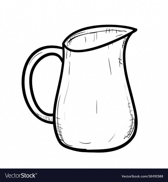 Interesting Jug Pencil Drawing for Beginners Sketch Of Doodle Jug Picture