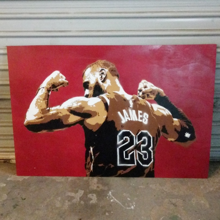 Interesting Lebron James Stencil Art Lessons Lebron James : Stencils Images