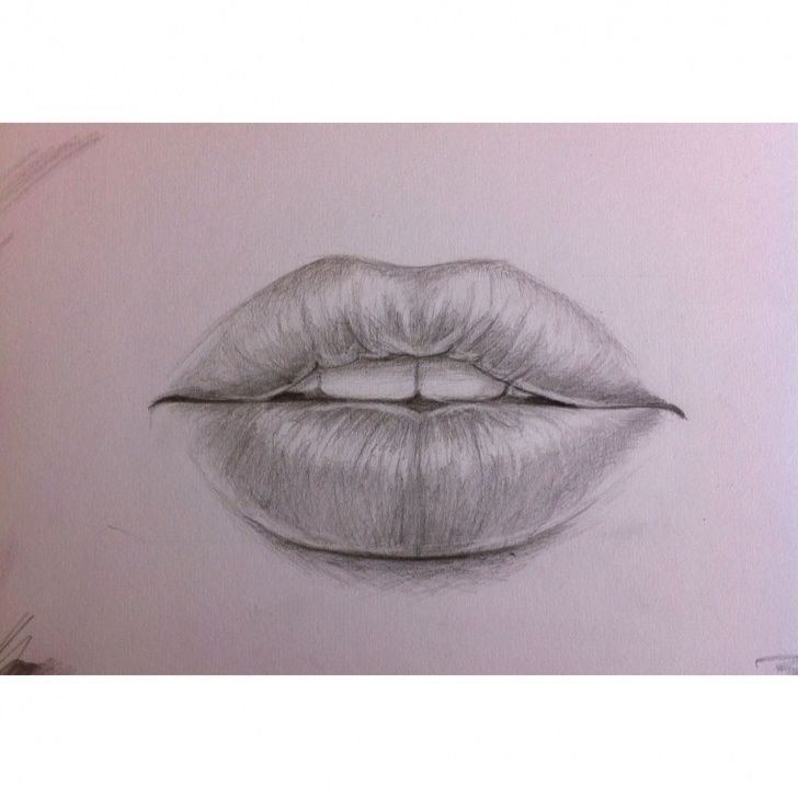 Interesting Lips Pencil Sketch Ideas Pencil Drawing Of Lips. | Art | Scratchboard Art, Pencil Drawings Pics