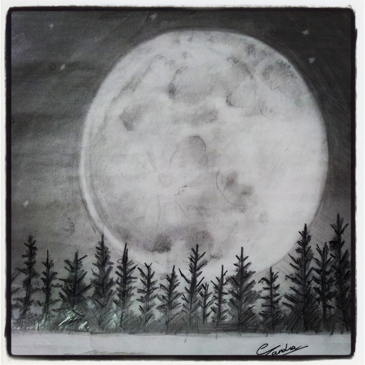 Interesting Moon Pencil Drawing Ideas Full Moon Sketch   Art With Pencils ! In 2019   Moon Sketches, Moon Pics