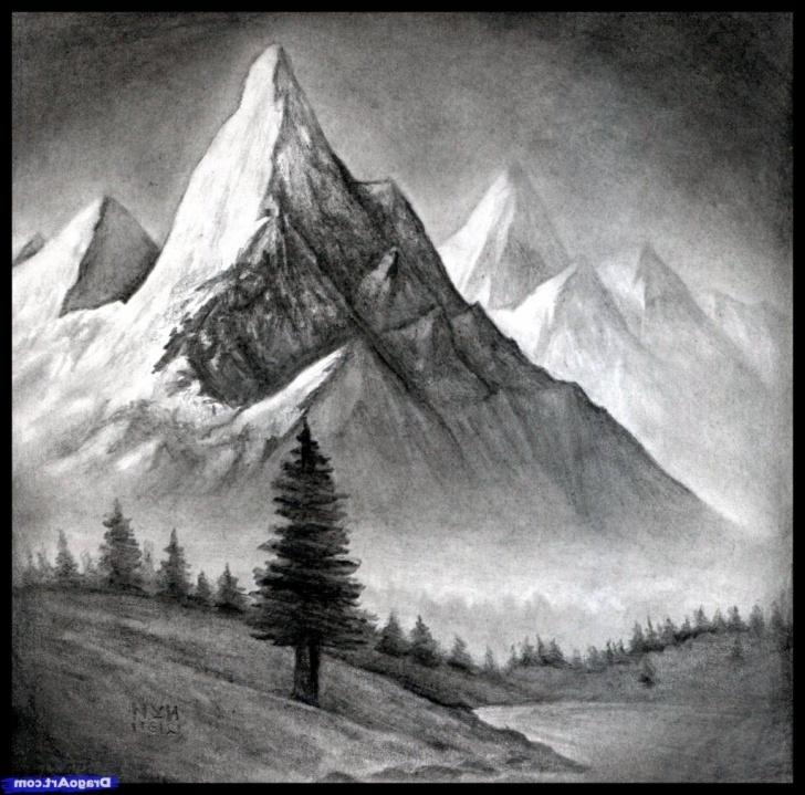 Interesting Mountain Pencil Sketch Techniques for Beginners Mountain Pencil Sketch At Paintingvalley | Explore Collection Of Photos