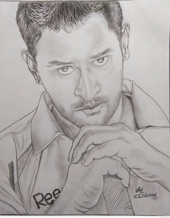 Interesting Ms Dhoni Pencil Sketch Step by Step Amazing Pencil Sketch Of Ms Dhoni | Desipainters Photos