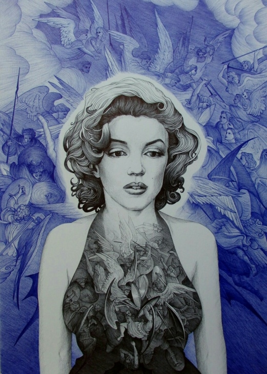 Interesting Pencil And Pen Drawings Step by Step Ballpoint Pen Drawings | Pencil Drawings By Alexandra Miron | Artsy Pics