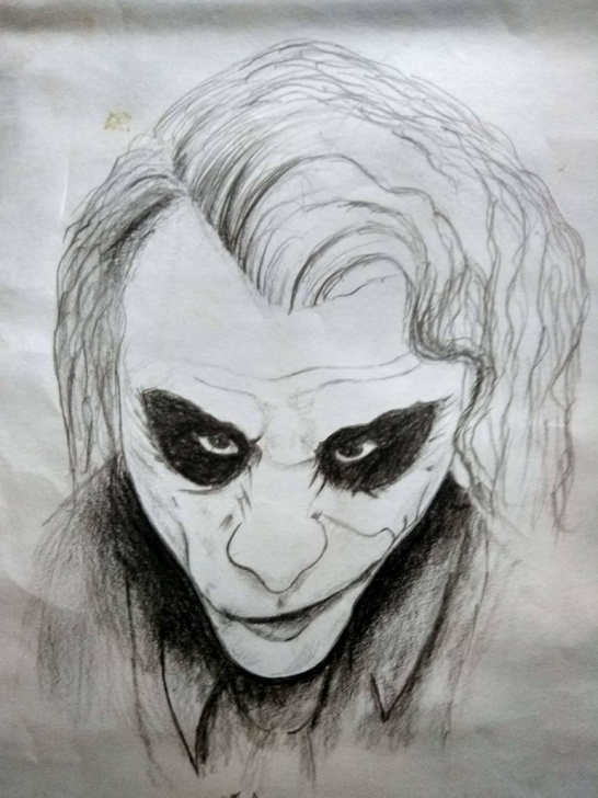 Interesting Pencil Art Drawing Free Joker Pencil Art Pictures