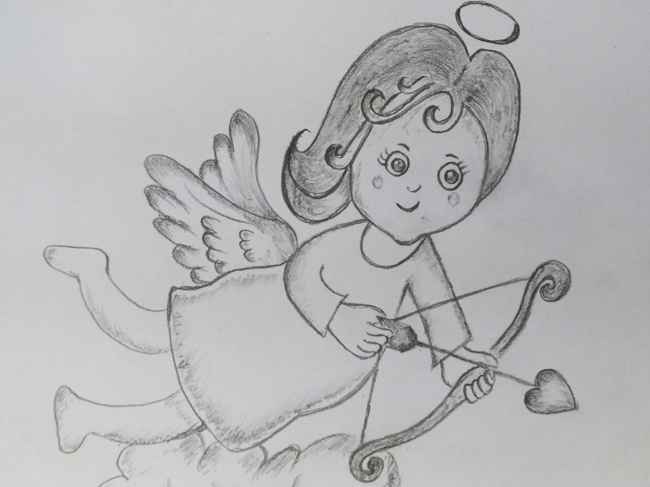 Interesting Pencil Art For Kids for Beginners Cute Angel Art By Mlspcart On Dribbble Image