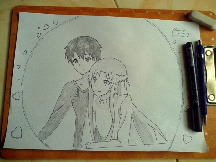 Interesting Pencil Art Online Tutorial Anime Pencil Art | Sword Art Online By Ramburger7 On Deviantart Pics