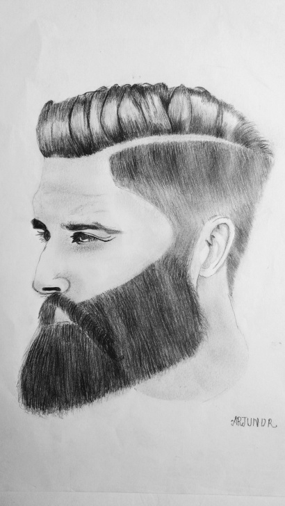 Interesting Pencil Drawing Man Simple Man With Beard Pencil Drawing | Arjun Arts In 2019 | Pencil Drawings Picture