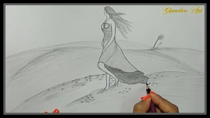Interesting Pencil Drawings Of Nature Step By Step Techniques for Beginners Pencil Drawings Of Nature - Girl In Nature Pencil Draw Step By Step Photo