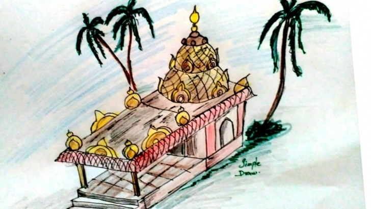 Interesting Pencil Drawings Temple Tutorials How To Draw Temple - Easy Drawing - Step By Step Drawing Of Hindu Temple Photo