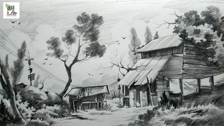 Interesting Pencil Shade Painting Simple How To Sketch And Shade A Landscape Art With Easy Pencil Strokes Photos