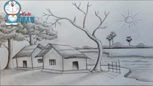 Interesting Pencil Shading Drawings Scenery Courses How To Draw Scenery / Shadow Scene By Pencil Sketch | Download In Pic