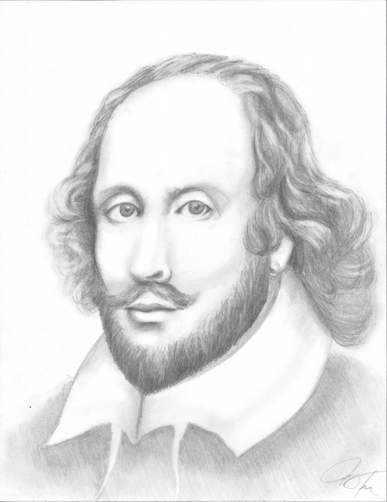 Interesting Pencil Sketch Of William Shakespeare Simple William Shakespeare Drawing, Pencil, Sketch, Colorful, Realistic Art Images