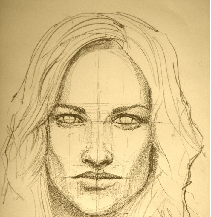 Interesting Portrait Drawing For Beginners Techniques for Beginners The Technique Of Portrait Pencil Drawing For Beginners Images