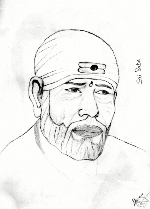Interesting Sai Baba Pencil Drawing Free Sai Baba Pencil Sketch | Desipainters Photos