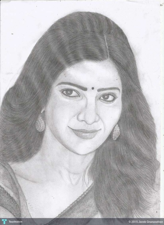 Interesting Samantha Pencil Sketch Ideas Jackhi Pencil Drawing.. Samantha Ruth Prabhu Pencil Sketch Images