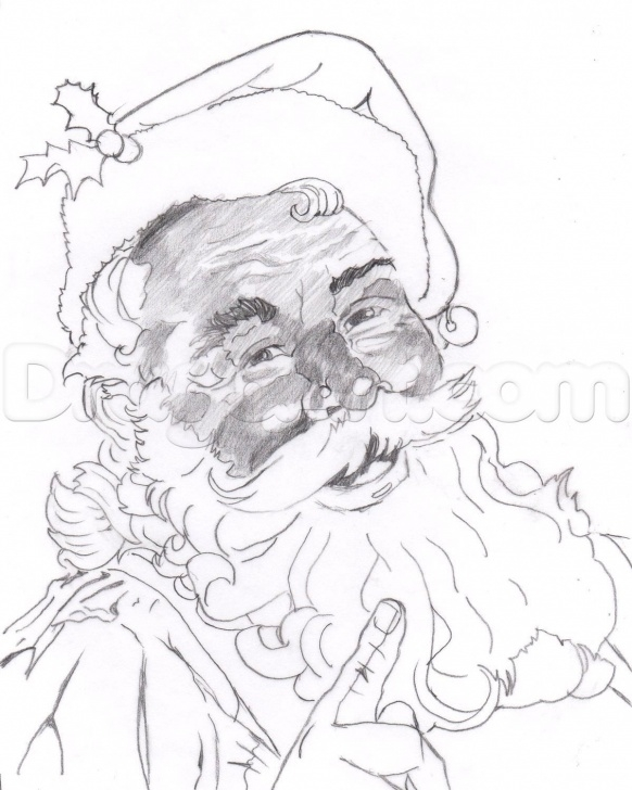 Interesting Santa Claus Pencil Drawing Courses Pinterest Photos