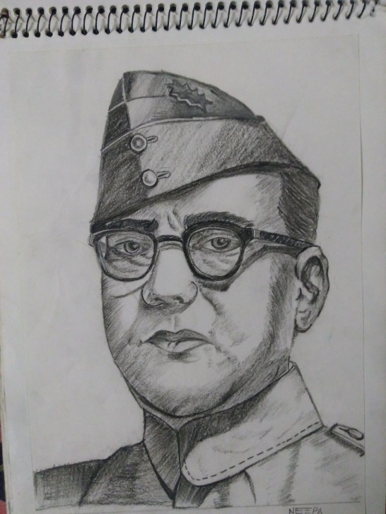 Interesting Subhash Chandra Bose Pencil Drawing Easy Subhash Chandra Bose Pencil Sketch | My Creation *painting N Pencil Pics