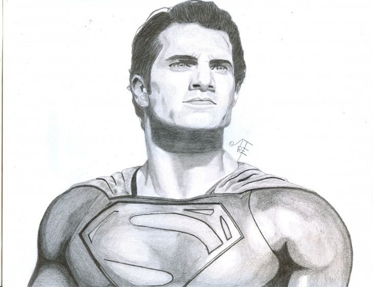 Interesting Superman Drawing In Pencil Free Superman Pencil Drawing By Argenis Trejo | Superman | Pencil Images