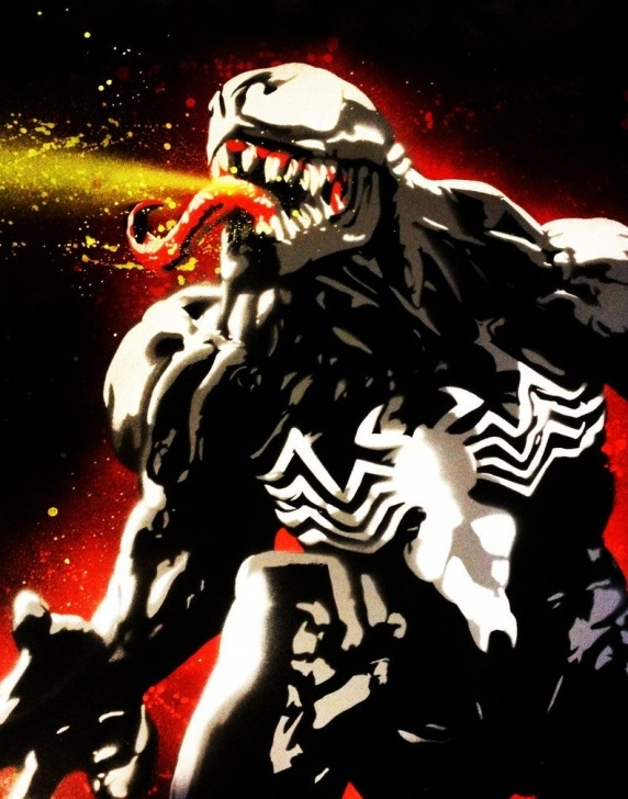 Interesting Venom Stencil Art Free Venom Spray Paint Art By Thecospainter.deviantart On @deviantart Images