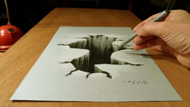 Learn 3D Pencil Drawings Easy Tutorials Awesome 3D Notebook Drawings Created By A 15 Year Old Kid | Doodle Pictures