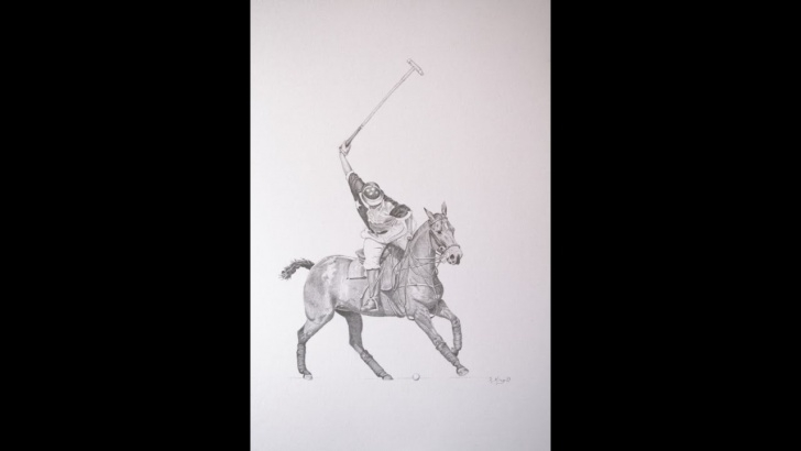 Learn 5 Pencil Method Techniques for Beginners Shooting For The Goal - A 5 Pencil Method Polo Graphite Drawing Pics
