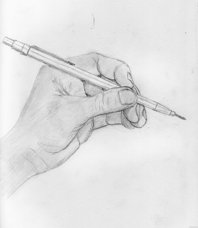 Learn A Pencil Sketch Tutorial Hand Holding A Pencil Sketch At Paintingvalley | Explore Photos