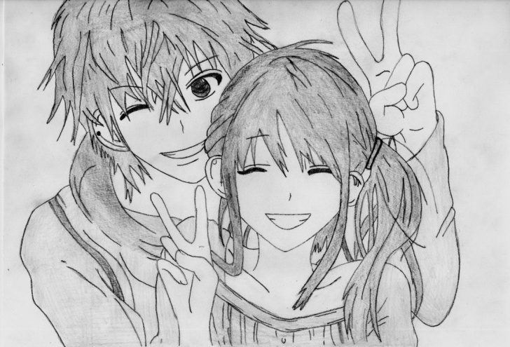 Learn Anime Couples Drawings In Pencil Courses Anime Couple Drawing By 1Dragonwarrior1 | Couple In 2019 | Anime Pictures