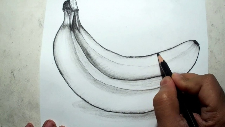 Learn Banana Pencil Drawing Tutorials How To Draw Bananas || Pencil Drawing And Shading Pictures