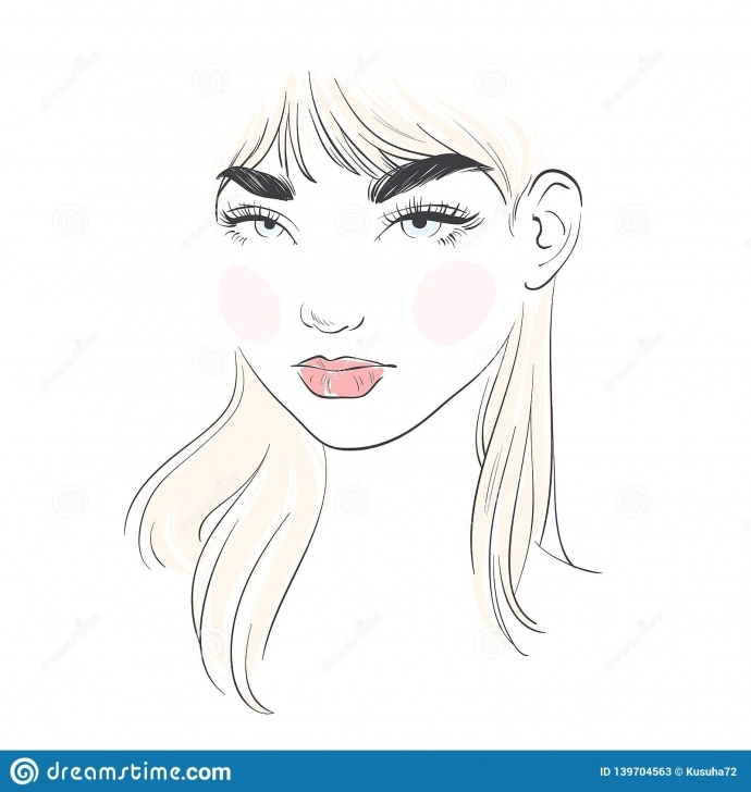 Learn Beautiful Lady Sketch Techniques for Beginners Beautiful Pastel Color Young Woman. Hand Drawn Stylish Woman Pics