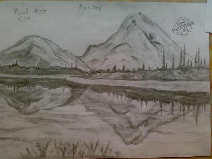 Learn Beautiful Sketches Of Scenery Tutorial Pencil Sketch Art Designs Photos : Pencil Sketches Of Sceneries Image