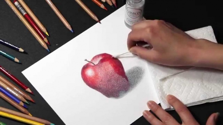 Learn Blending Colored Pencils With Baby Oil Simple Colored Pencil: How To Blend Colored Pencil With Solvents Images
